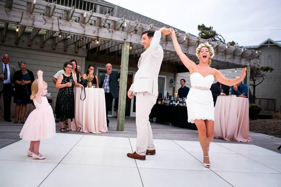 Katie Andrew first dance wedding reception sanderling resort