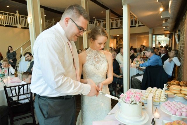 Yummy wedding cake at 128 south events in wilmington nc
