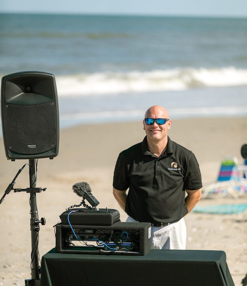 Outer Banks Beach Wedding Music and Audio System