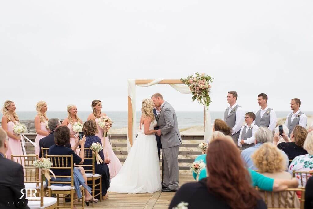 Clint-Ashley-Wedding Ceremony-Wild-Horse-House-Carova-NC