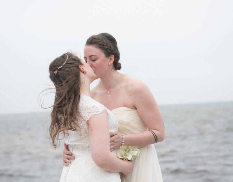gay marriage wedding first kiss coast