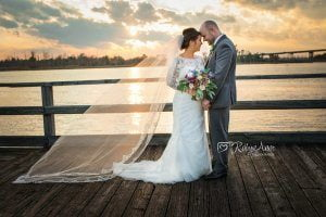 Brooke and Chris's first look photos at The Coastline Conference Center in Wilmington, N.C.