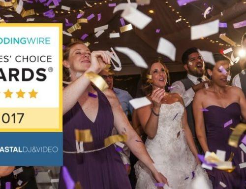 Coastal DJ & Video Awarded 2017 WeddingWire Couple's Choice for DJ & Videography