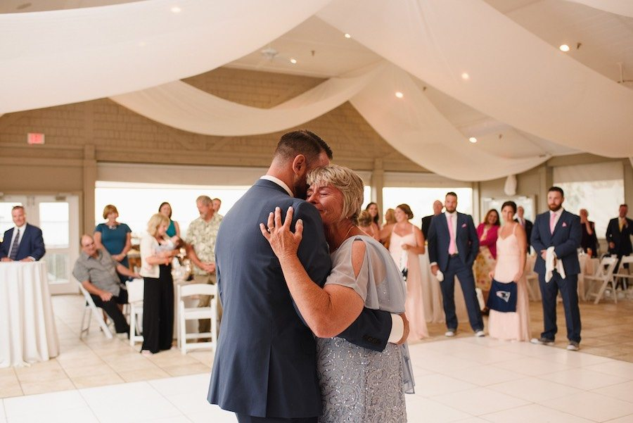 Mother Son dancing at Sanderling Resort Wedding in Duck