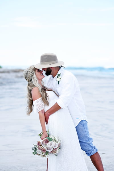 beach island wedding near masons inlet