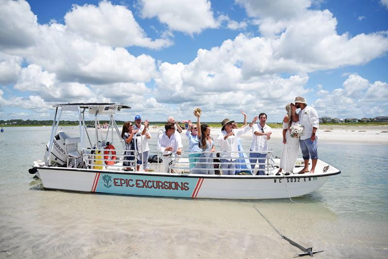 masonboro island wedding excursion
